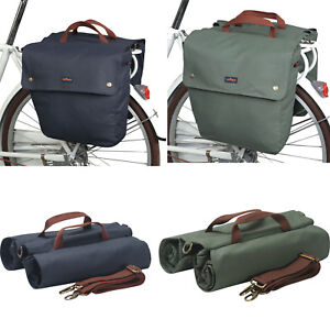 Tourbon Bike Double Panniers Cycling Trunk Bag Seat Pack Canvas Large Capacity