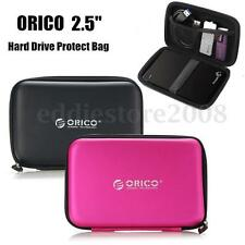 "ORICO Portable 2.5"" External Hard Drive Protect Bag Carrying Case Black Pink"