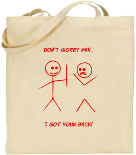 Don/'t Worry Man Got Your Back Large Cotton Tote Shopping Bag Birthday Gift Xmas