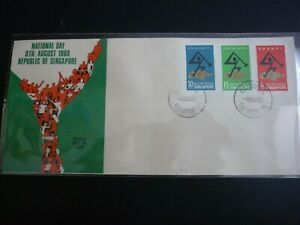 Singapore-National-Day-1968-Stamp-FDC-First-Day-Cover-Excellent