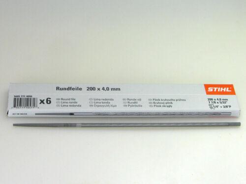 """STIHL Rundfeile 6 St für Sägeketten 4,0mm 1//4/"""" und 3//8/""""P 1,3mm 5605 771 4006"""