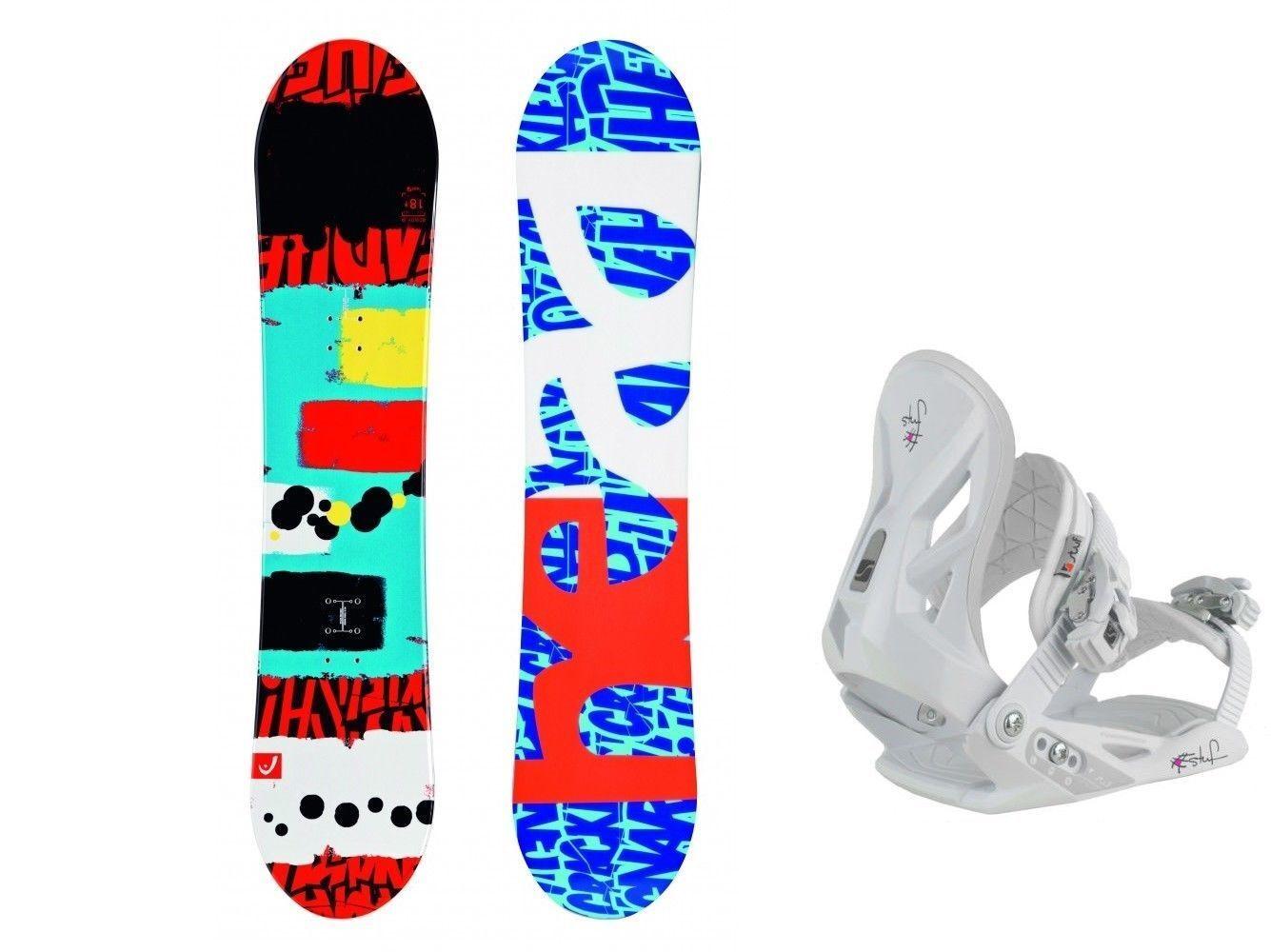 HEAD Rowdy JR 98 Snowboard Set inkl. Bindung white Kinder Kid Junior Board Set