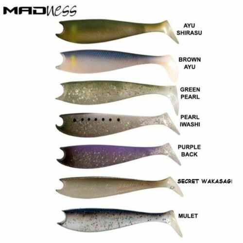 Lot 15 packs leurre souple MADNESS madshad peche lures mer U Fishing bar brochet