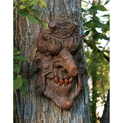"14"" Greenman Mystical Character Tree People Poisonous Oak Tree Spirit Sculpture"