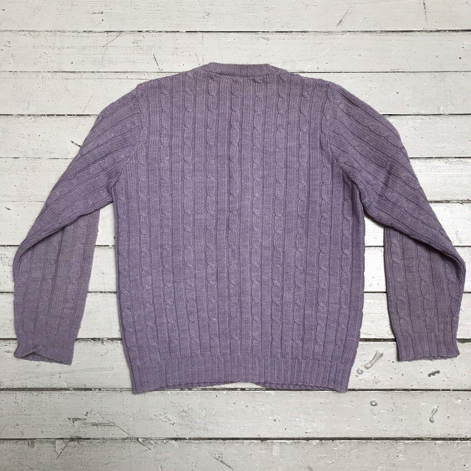 VTG EDWARD WARREN Light Purple Lilac Cable Knit S… - image 6