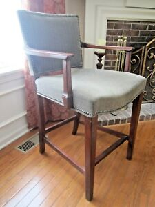 Incredible Details About Hickory Chair Counter Stool Oxford Finish Made In Usa High End Alphanode Cool Chair Designs And Ideas Alphanodeonline