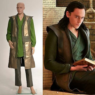 Thor The Dark World Loki Laufeyson Leather Vest Cosplay Costume*Custom Made*