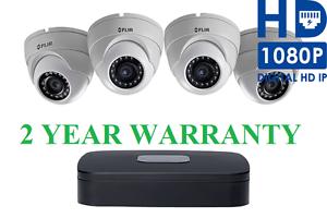Flir Lorex Poe Surveillance Security Camera System 1080p