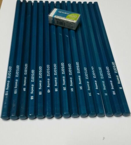 Free Eraser 15 Professional High Quality Graded Pencils Shading Artist Sketch