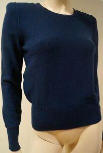 laine Pull en polaire angora Sonia laine bleue et col montant Rykiel en et qnaYAwAtH
