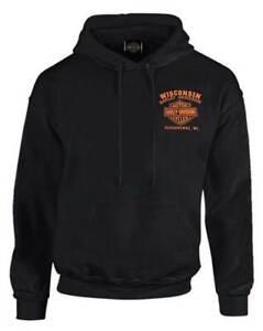 Harley-Davidson-Men-039-s-Custom-Freedom-Fleece-Pullover-Hoodie-Solid-Black