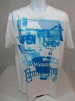 Mens Marc Ecko Cut & Sew T-shirt Open For Biz Size L 2xl Bleach White