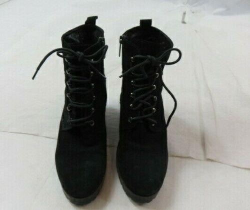 Aquatalia Black Lace/Zip Up Wedge Bootie Size 8