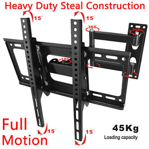 Moveable-Wall-Mount-TV-Bracket-Hanger-Holder-Universal-For-32-39-40-43-46-50inch