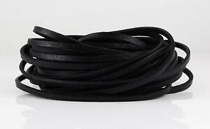 1 m Lederband schwarz  3 x 2 mm Armband herstellen schmuck