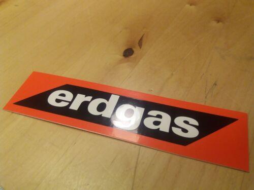 Biathlon Aufkleber Erdgas neu Schriftzug 13,9 x 3,5 cm Patch rot Sponsor
