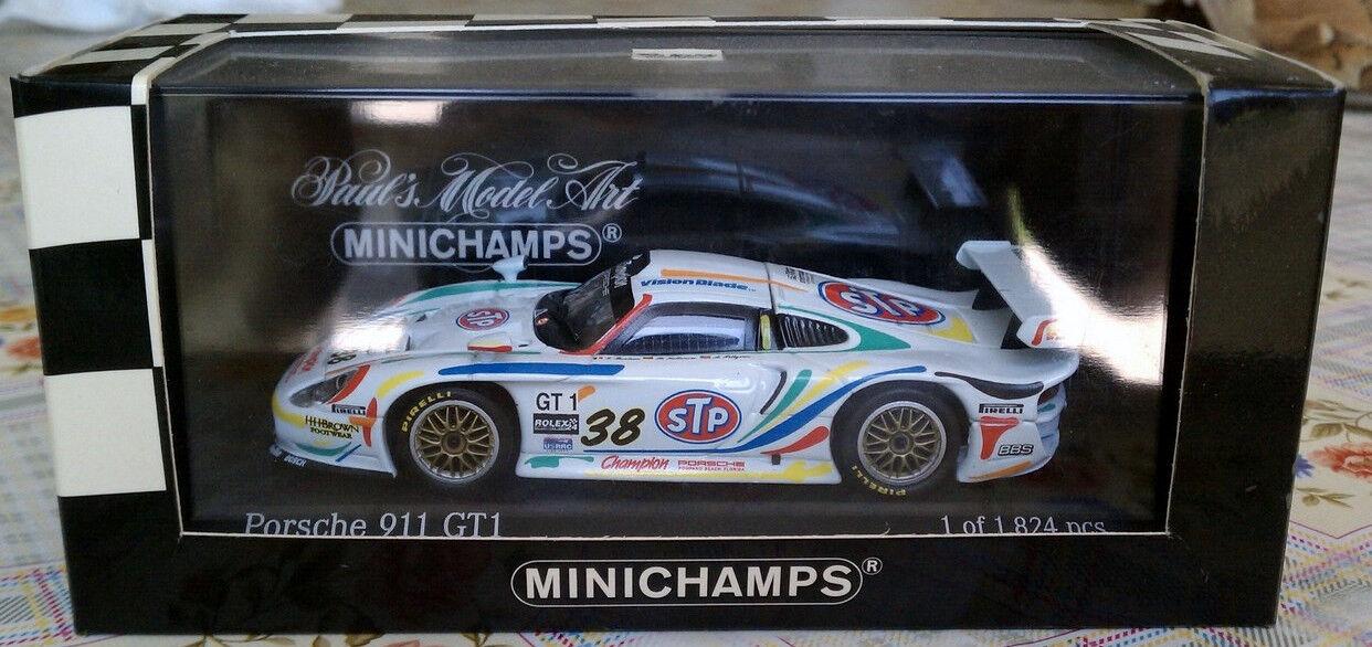 genuina alta calidad Minichamps 1 43 Porsche Porsche Porsche 911 Gt1 Daytona 1998 Equipo Campeón   38  ahorra hasta un 50%