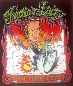 INDIAN LARRY HARLEY DAVIDSON  MOTORCYCLE CHOPPER BOBBER STICKER HOT ROD RAT ROD