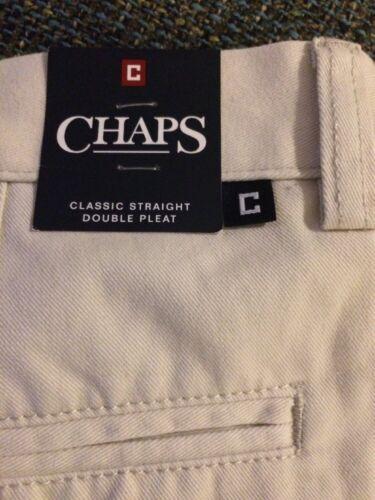 Piega Pantaloni 36 X Straight Uomo Stone Nwt Chaps Y14 Khaki 32 Classic corta Beige txqFZWwnag
