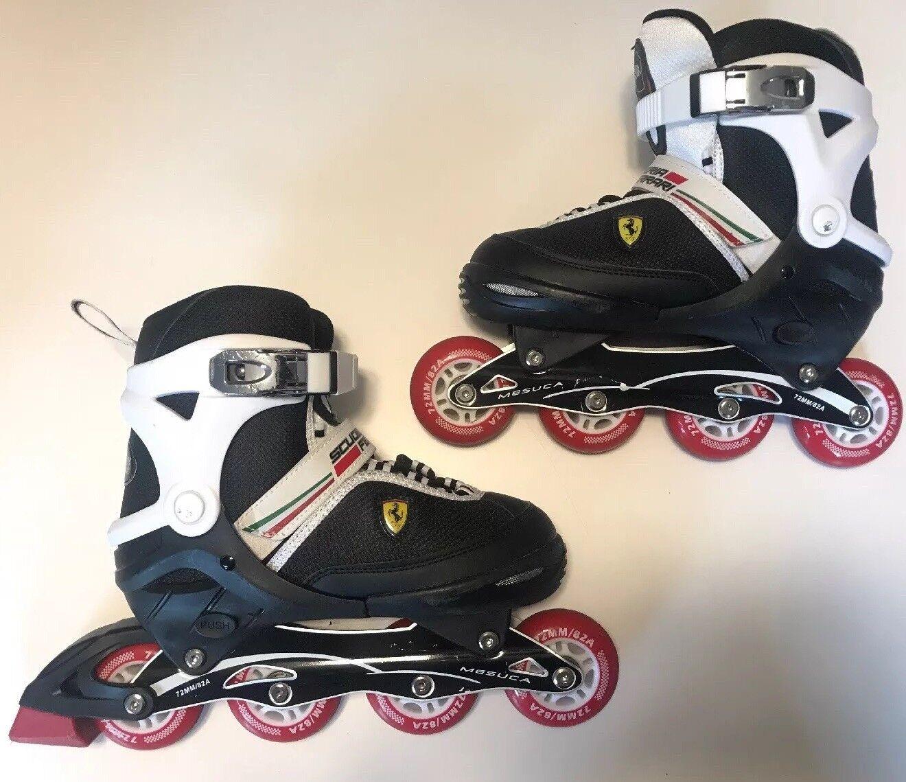 Rare Rare Rare Adjustable Inline Skate Scuderia Ferrari  rollerblades 72mm e36409
