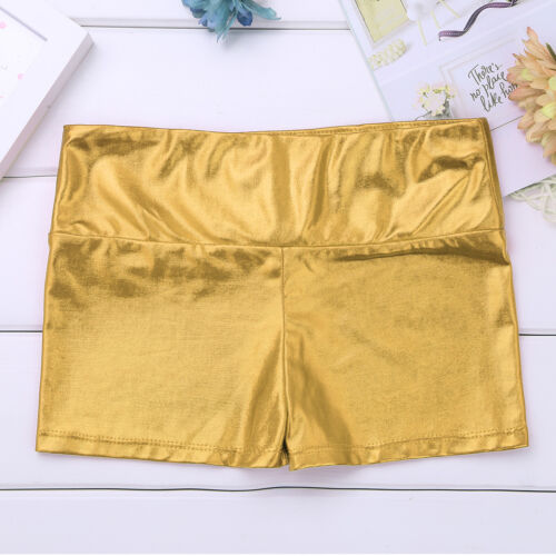 Girls Kids Dance Sports Shorts High Waisted Hot Pants Workout Gym Ballet Bottoms