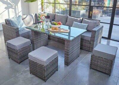 Conservatory Barcelona Range Rattan Garden Furniture Set 9 Seater Dining Set Ebay
