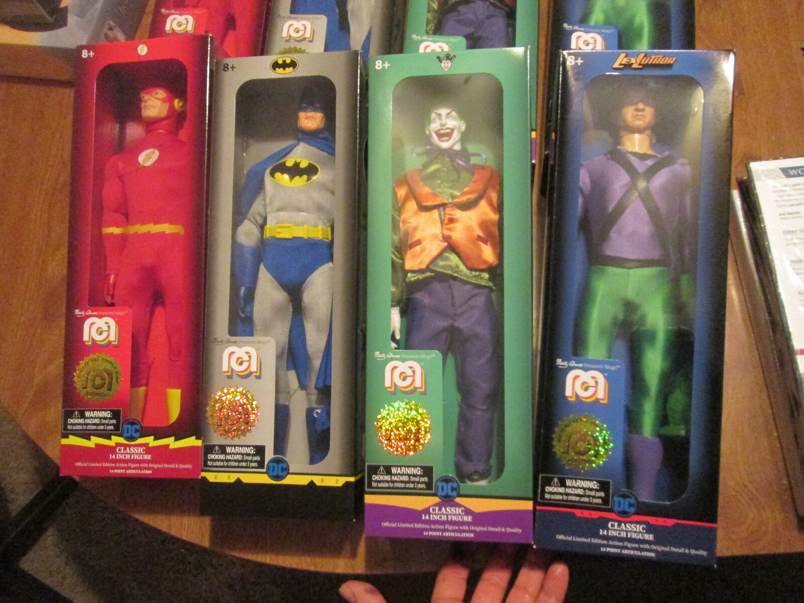 MEGO Marty Abrams Lex Luthor Batman The Flash & Joker Set Complet 14  DC COMICS