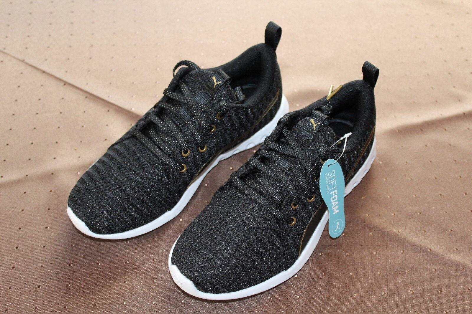 Puma Carson 2 Metallic Wn´s / Damen Sportschuh Sneaker 38,5 / Black-Gold / Gr. 38,5 Sneaker 1f75ed