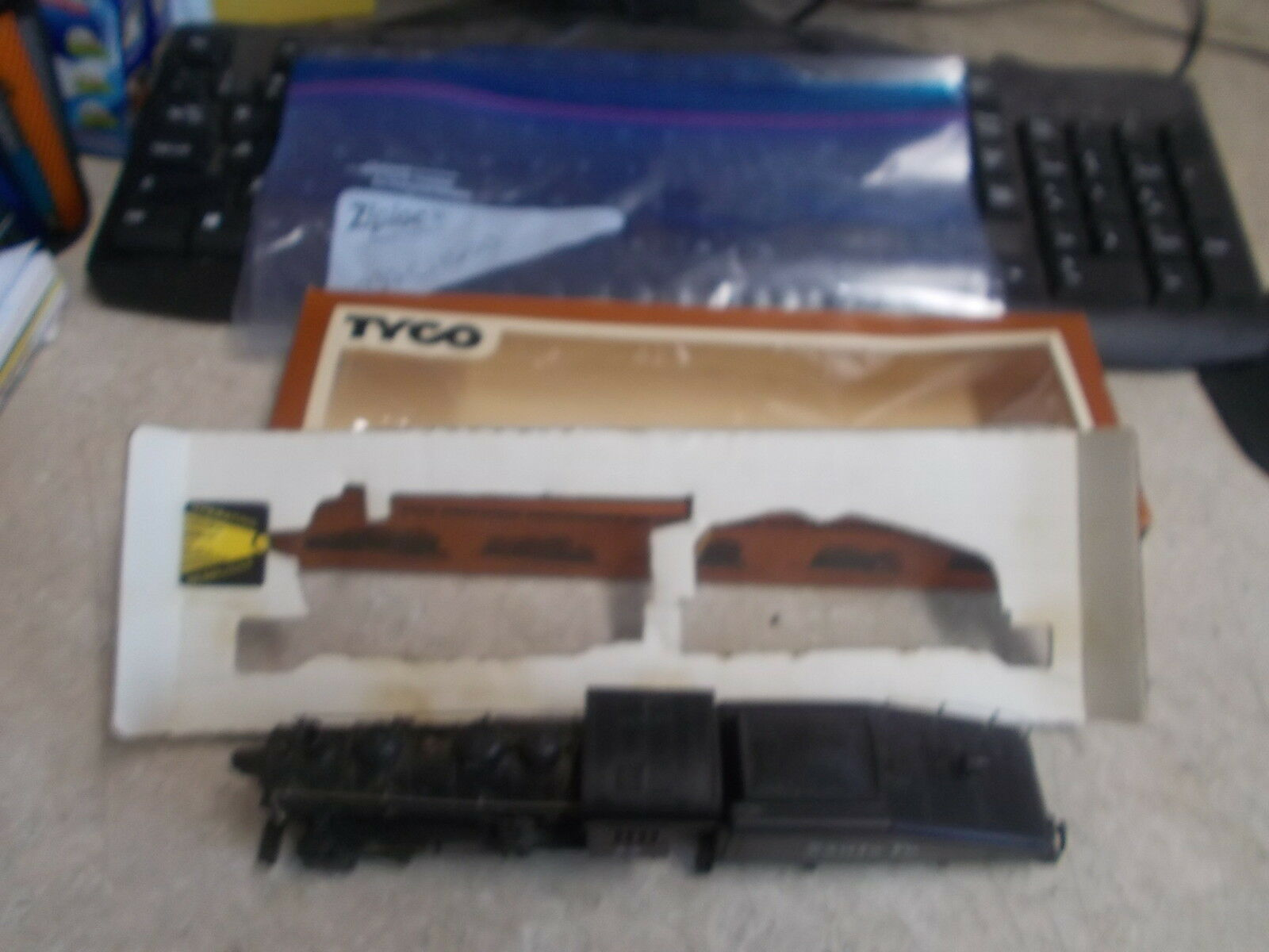 Oem Tyco Shifter II Treno Santa Fe Illuminato Motore & Carbone Auto Ho Modello