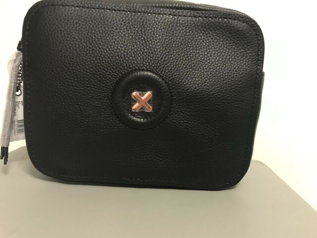 fd7b290413cb Mimco Daydream Hip Bag Leather Handbag Black Crossbody Rose Gold for ...