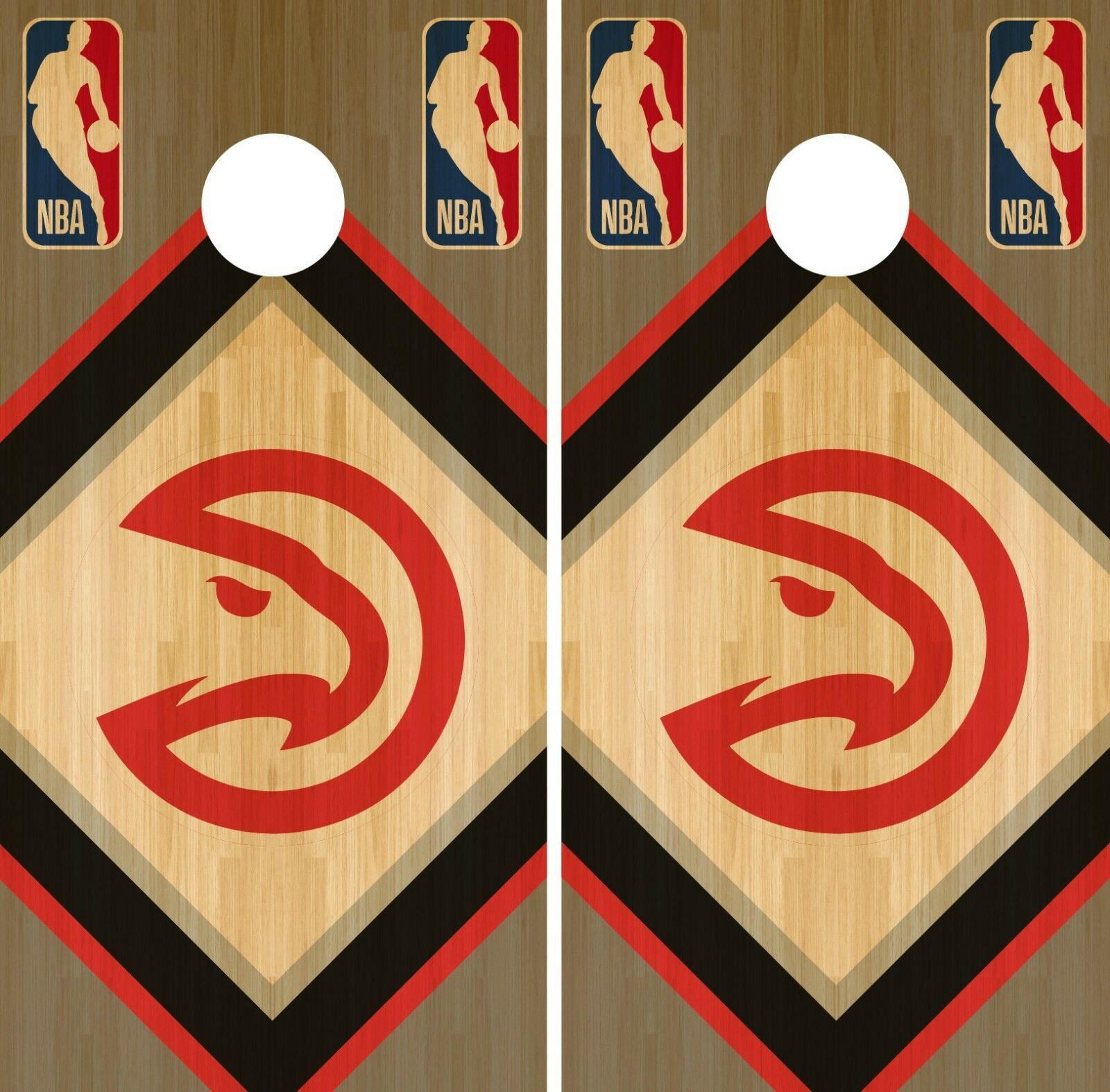 Atlanta Hawks Cornhole Wrap NBA Wood Game Board Skin Set  Vinyl Decal CO552  limited edition