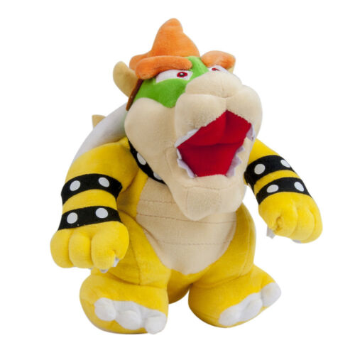 """Super Mario Brothers Bros Party Bowser 10/"""" Koopa Plush Toy Stuffed Xmas Gift"""