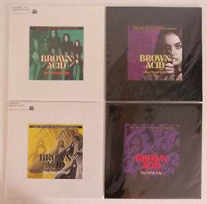 BROWN ACID - Test Pressing Vinyl Set, Black Sabbath, Led Zeppelin, Deep Purple - Ludersdorf / Wilfersdorf, Österreich - BROWN ACID - Test Pressing Vinyl Set, Black Sabbath, Led Zeppelin, Deep Purple - Ludersdorf / Wilfersdorf, Österreich