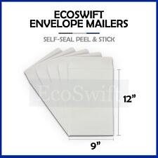 1 White Self Seal Catalog Mailing Shipping Kraft Paper Envelope 28 Lb 9 X 12
