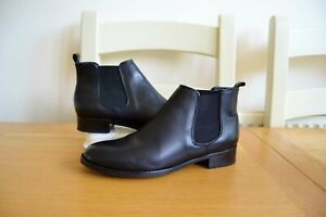 CLARK-S-034-NETLEY-ELLA-034-BLACK-LEATHER-CHELSEA-STYLE-ANKLE-BOOTS-UK-5D-RRP-75-00