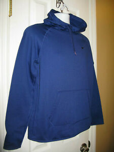 Details about NIKE DR FIT MEDIUM MEN'S PULL OVER HOODED SWEAT SHIRT THUMB HOLES ROYAL BLUE