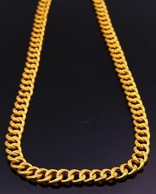 22 K Yellow Gold Heavy Weight Diamond Cut Link Chain Handmade Design Antique Ebay