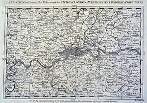 Antique-map-A-new-map-of-the-counties-ten-miles-round-the-Cities-of-London
