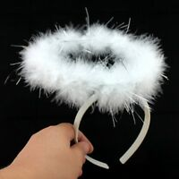 Feather Angel Fairy Halo Cosplay Fancy Dress Party Costume Headband Accessory