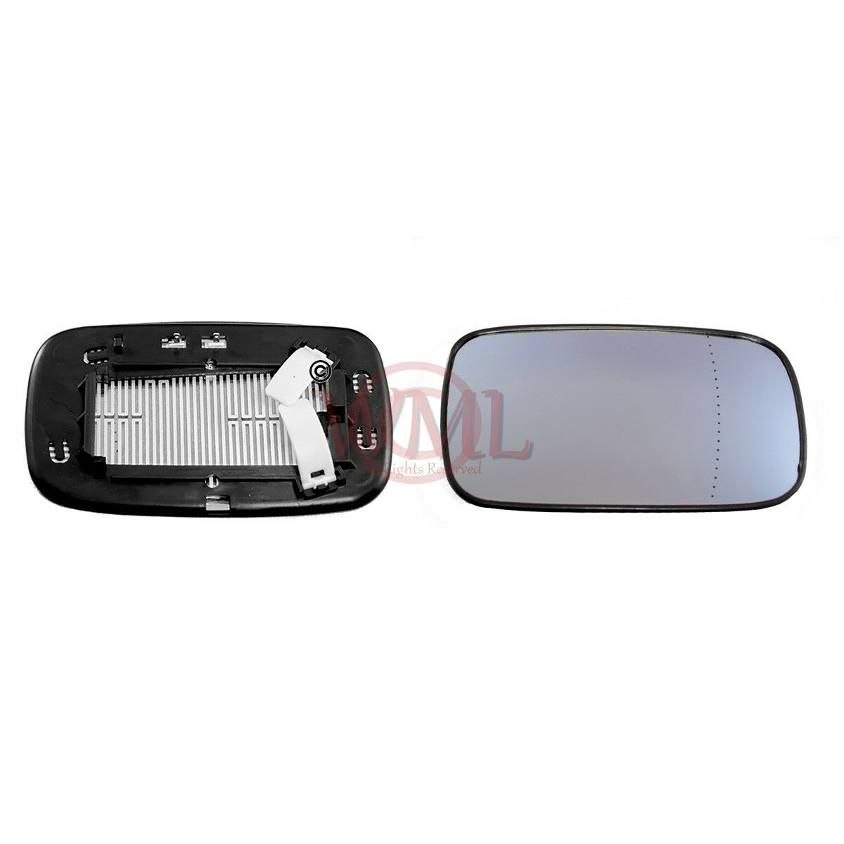 2004 to 2006 Volvo S40 Wing Mirror Glass Left Hand side Aspheric