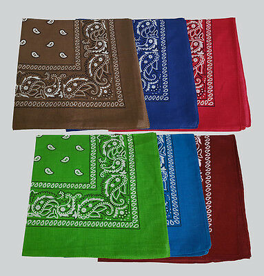 Paisley Bandana Bandanna Headwear//Hair Band Scarf Neck Wrist Wrap Band Head tie