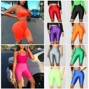 Women Stretch Biker Bike Shorts Workout Spandex Leggings Knee Length Short Pants