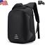 US-Mens-Anti-theft-Laptop-Black-Backpack-USB-Charging-Port-Rucksack-Satchel-Bag miniature 2