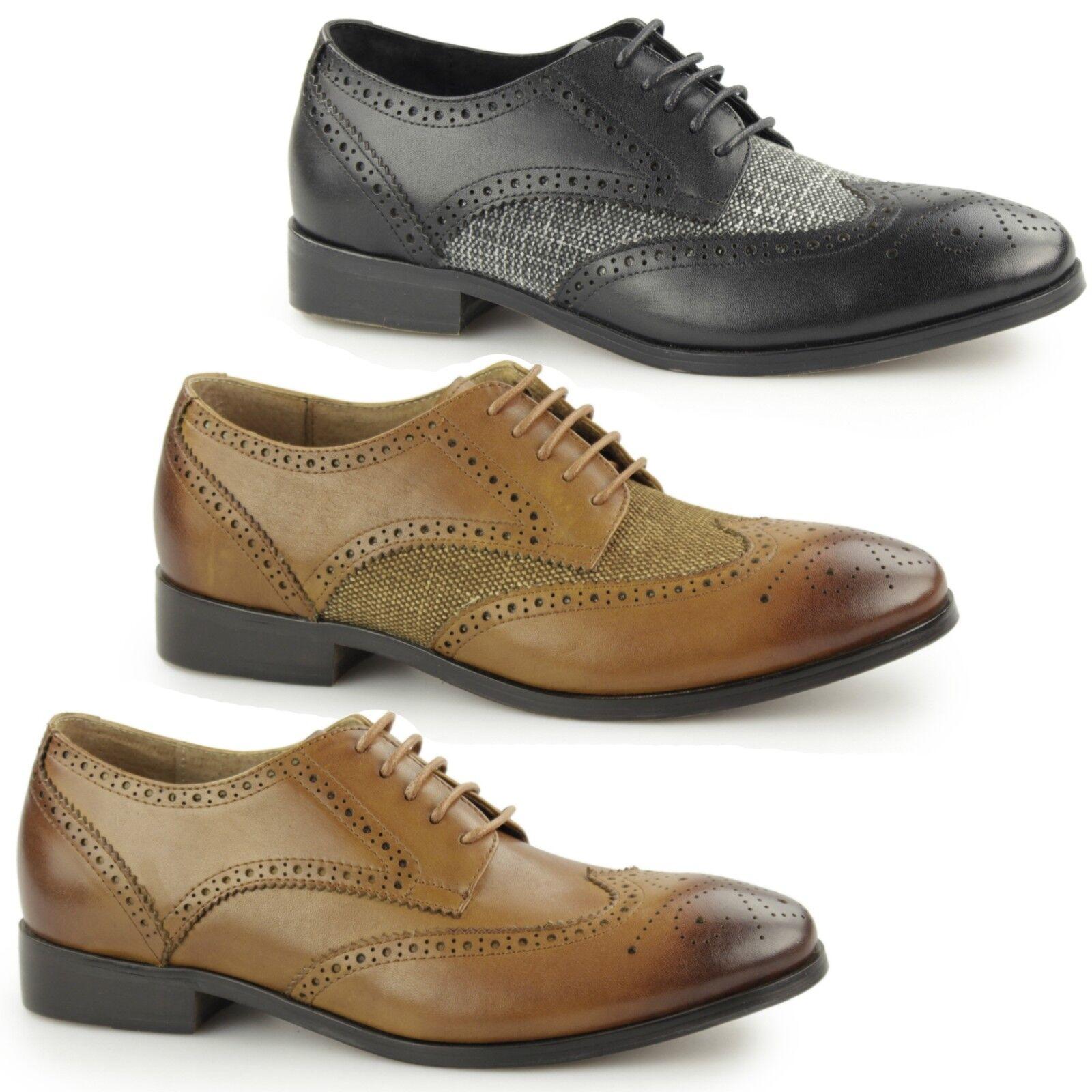 Laceys london notilla femmes cuir toile smart bureau lacets richelieu à chaussures