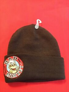 76e0d1b0 Image is loading Very-Cool-Bad-Monkey-Logo-Winter-Black-Knit-
