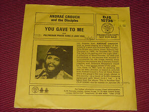 Andraé Crouch And The Disciples   You Gave To Me   EX  7034    PROMO - <span itemprop='availableAtOrFrom'>Fremingon, Devon, United Kingdom</span> - Refund given if product is faulty or if buyer disagrees with the description. Product must be returned in exactly the same condition as it was received in. If the item is sealed  - Fremingon, Devon, United Kingdom