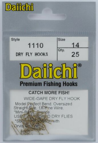 Daiichi 1110 Dry Fly Tying Hooks