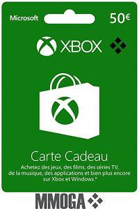 Crédit Xbox Live de 50 EUR - Code Digital Xbox Live Code €50 EURO Compte EU - FR