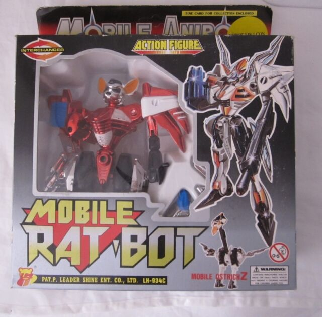 VINTAGE LH TOYS INTERCHANGER MOBILE RAT-BOT MOBILE ANIBOT TRASFORMABLE NUOVO!!