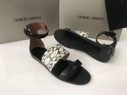 Nib995 Giorgio Zwart Eu Sandalen Damessandalen Sneaker Schoenen Italy Armani 37 3RjLc54ASq